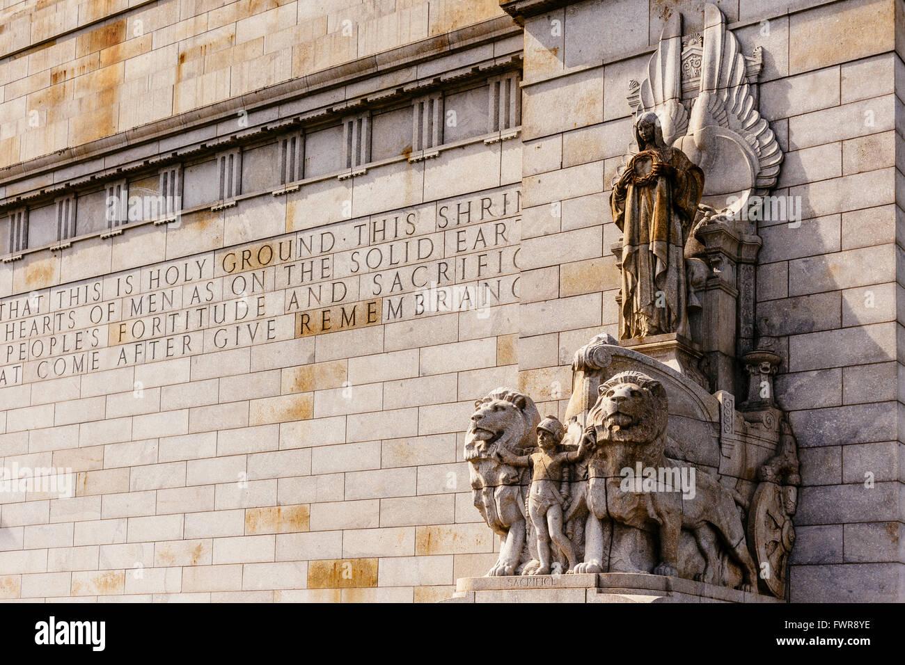 Western Wall, Shrine of Remembrance, Melbourne, Victoria, Australia - Stock Image