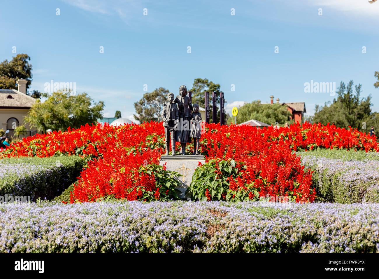 Legacy Garden of Appreciation, Shrine of Remembrance, Melbourne, Victoria, Australia - Stock Image