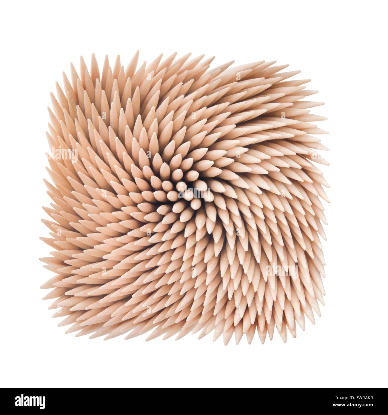 Toothpicks pattern set on white background. Clipping path - Stock Image