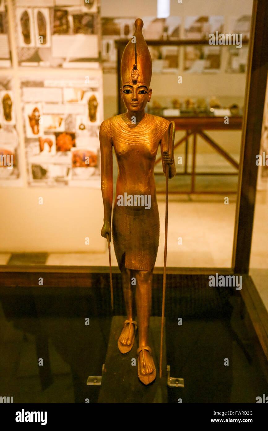 Museum of Antiquities Cairo Egypt, King Tut - Stock Image