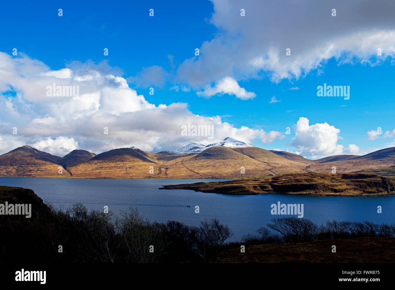 Loch na Keal and Ben More, Isle of Mull, Aygyll and Bute, Scotland UK - Stock Image
