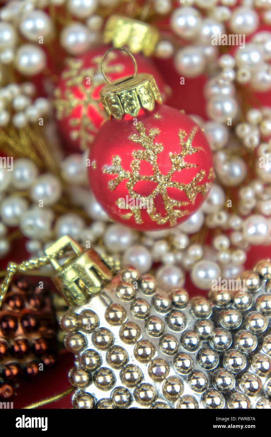 elegant christmas decorations closeup stock image