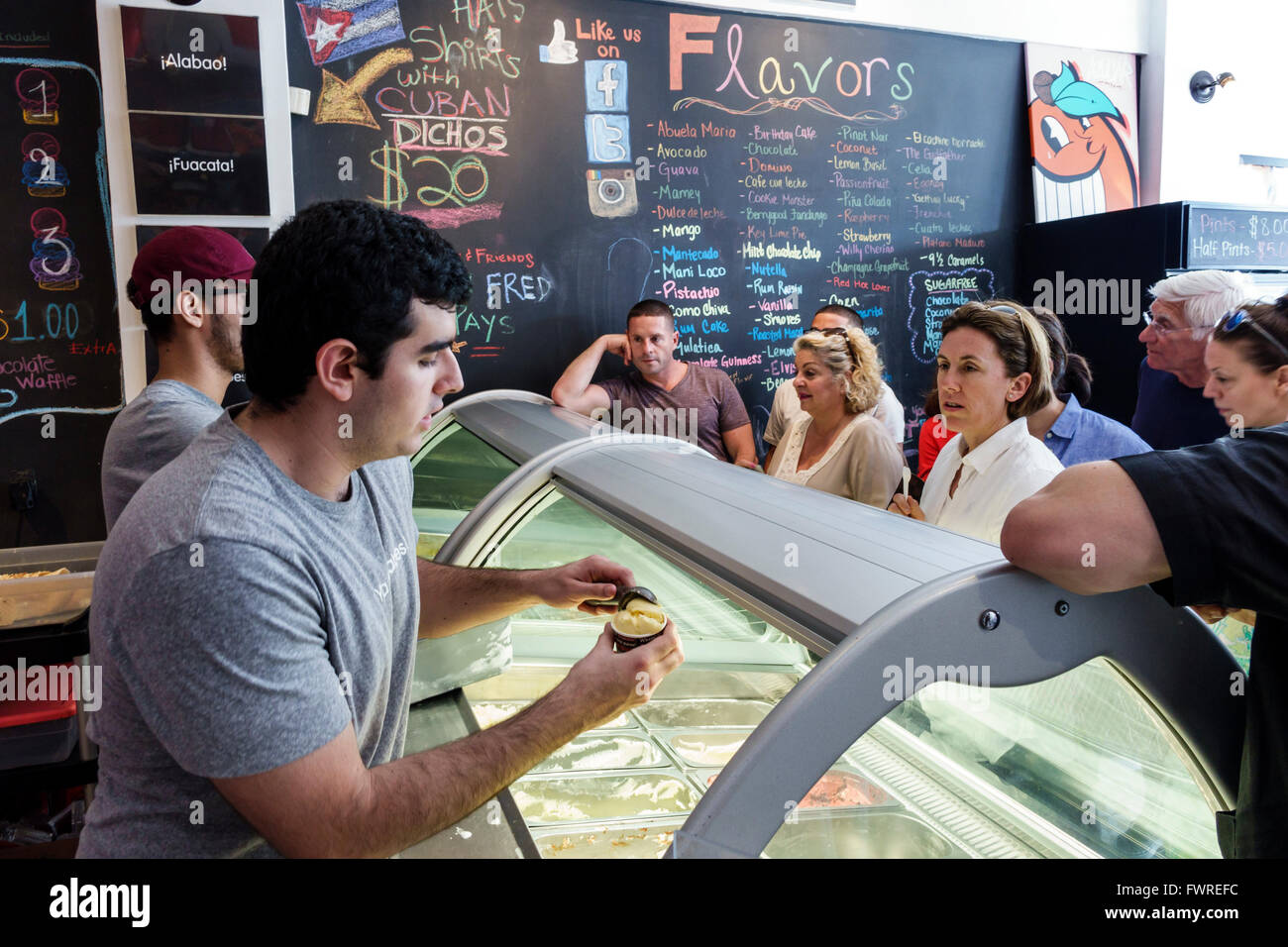 Man Serving Ice Cream Stock Photos Man Serving Ice Cream Stock
