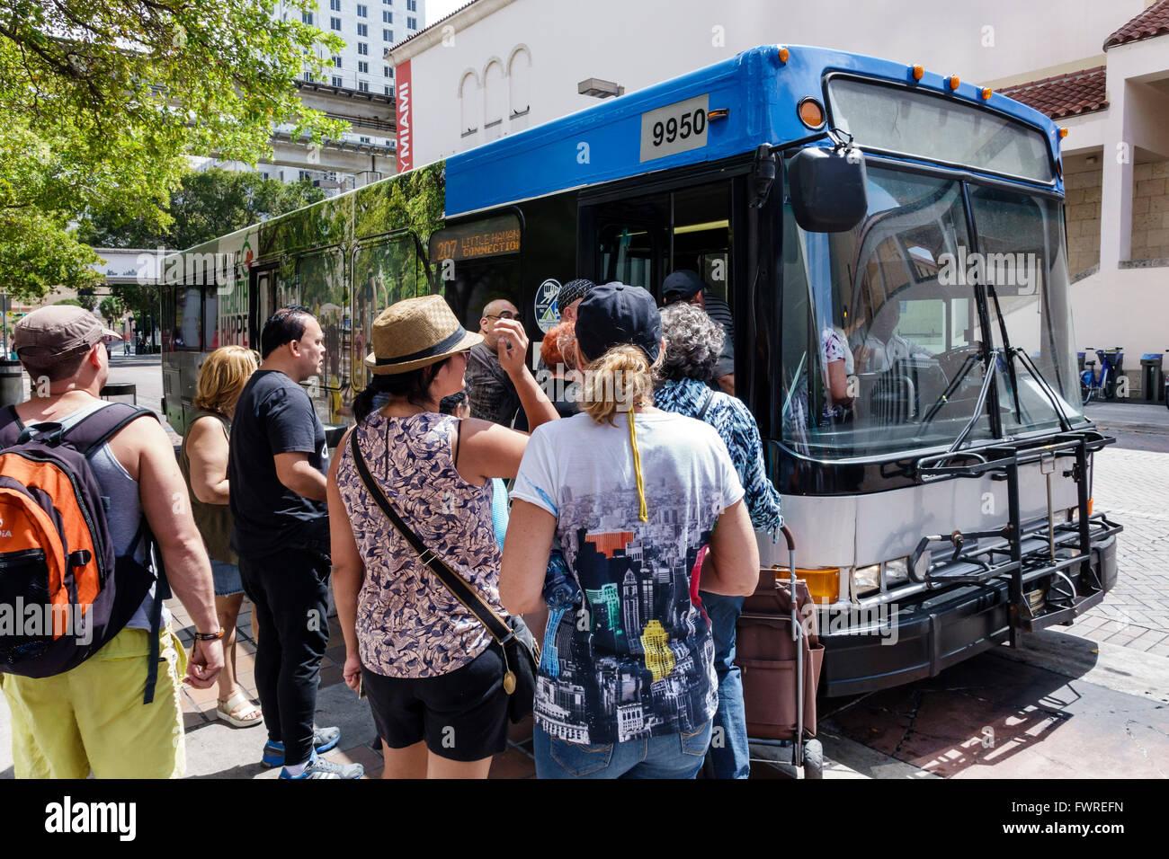 florida fl miami miami-dade metrobus public transportation bus stop