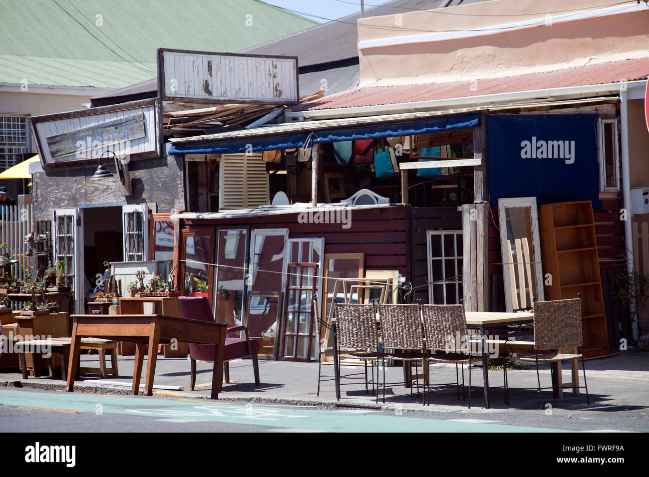 Woodstock Albert Rd - Furniture Shop -  Cape Town - South Africa - Stock Image