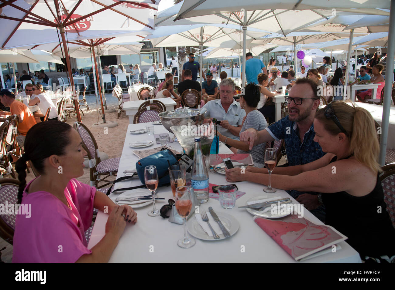 Grand Beach Cafe at Granger Bay in Cape Town - South Africa - Stock Image
