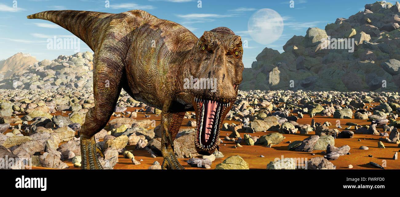 T.Rex Confrontation. - Stock Image