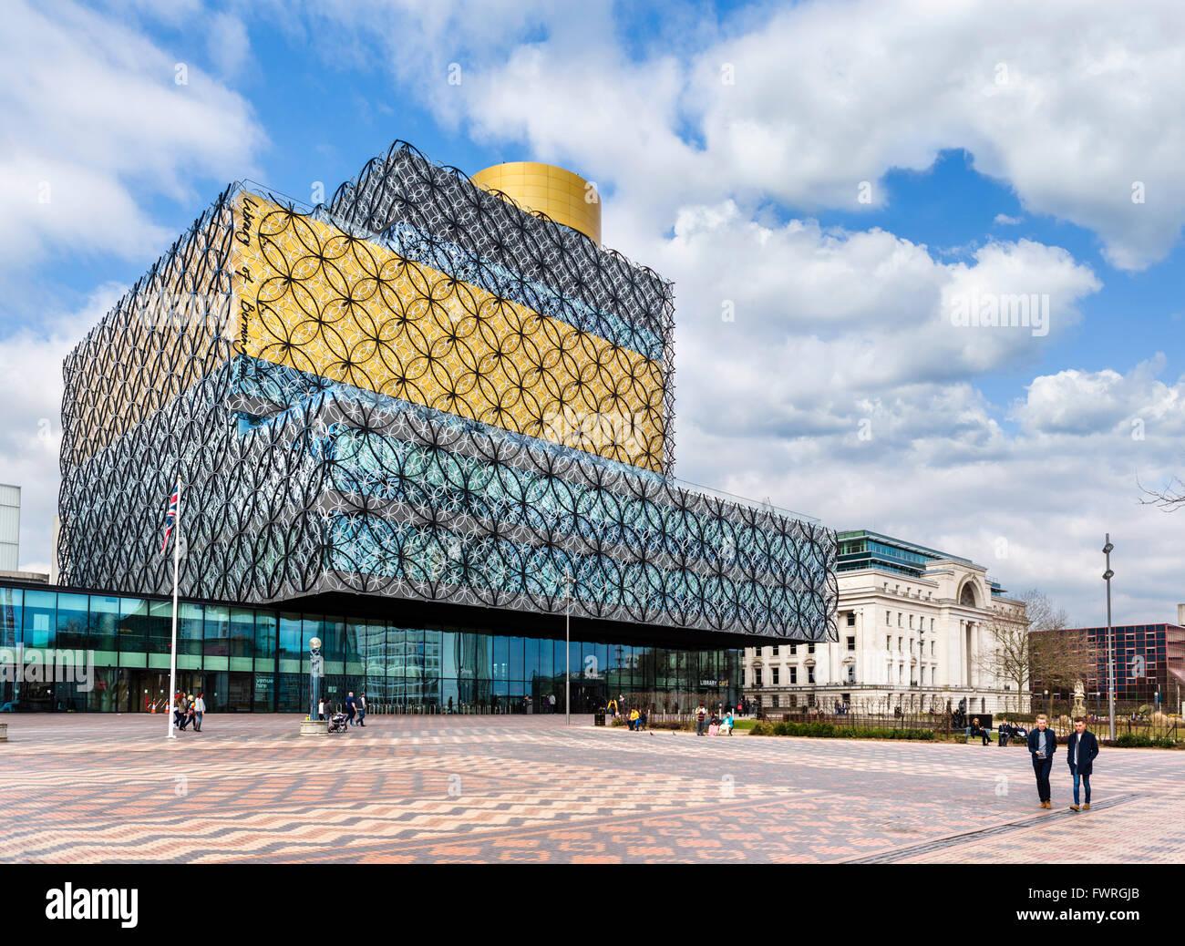The modern Library of Birmingham, designed by Francine Houben, Centenary Square, Birmingham, West Midlands, England, - Stock Image
