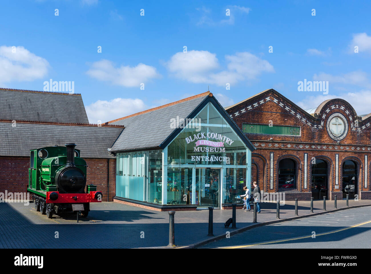 Entrance to the Black Country Living Museum, Dudley, West Midlands, UK - Stock Image