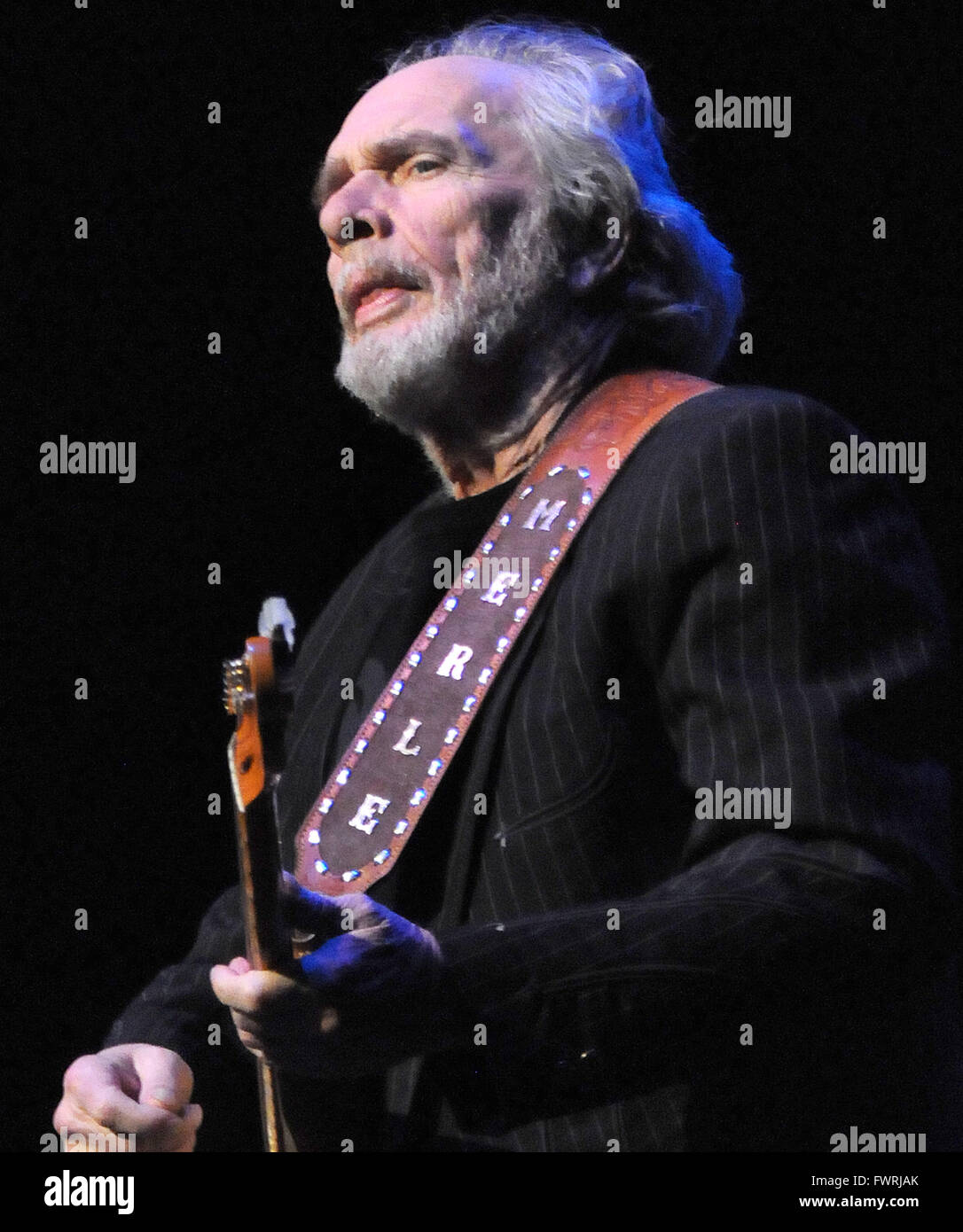February 02, 2011 - Melbourne, Florida, United States - Country music legend Merle Haggard performs at the King - Stock Image