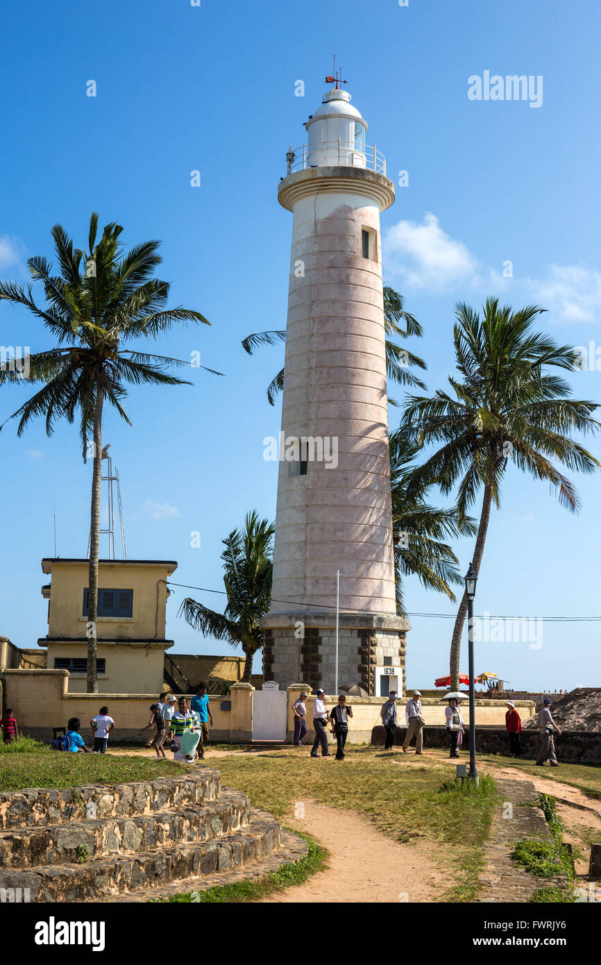 Lighthouse at Old Town of Galle, Sri Lanka, Asia Stock Photo