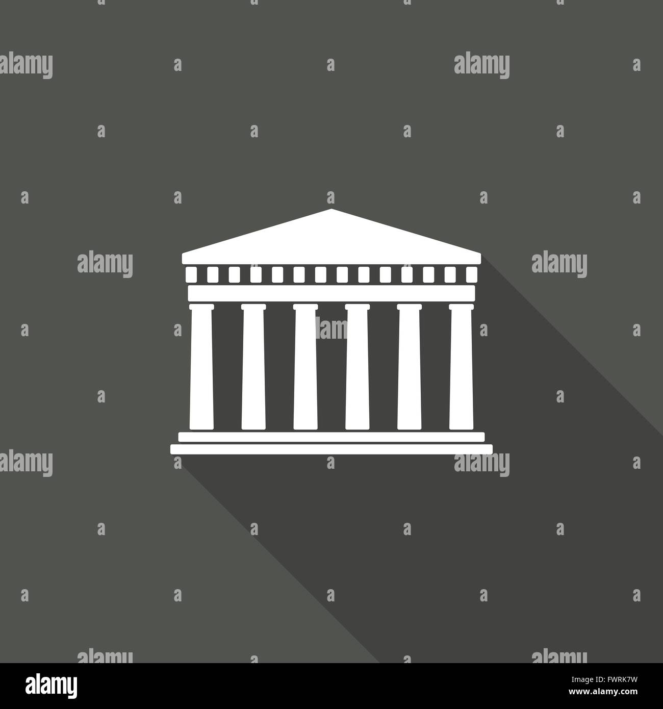 Ancient Greek architecture Long shadows - Stock Vector