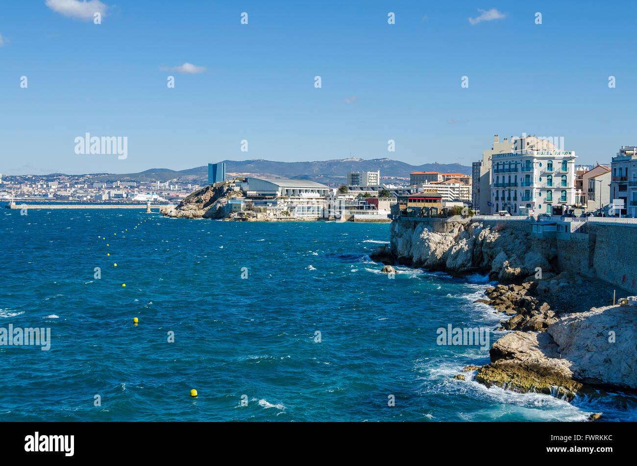 La Joliette, le port et la Tour CGM, Marseille, BDR, France 13 - Stock Image