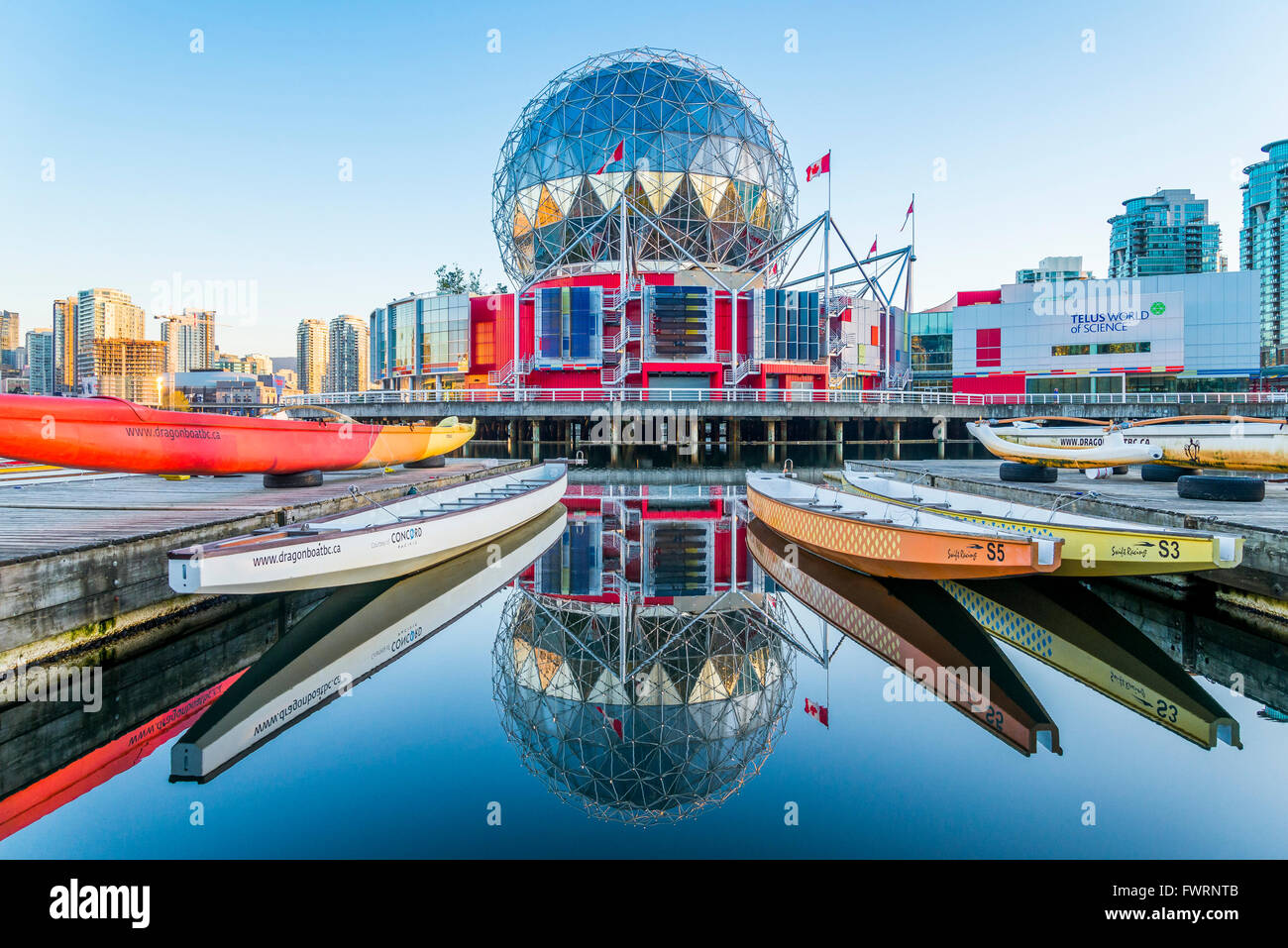 Telus Science World, False Creek, Vancouver British Columbia, Canada - Stock Image