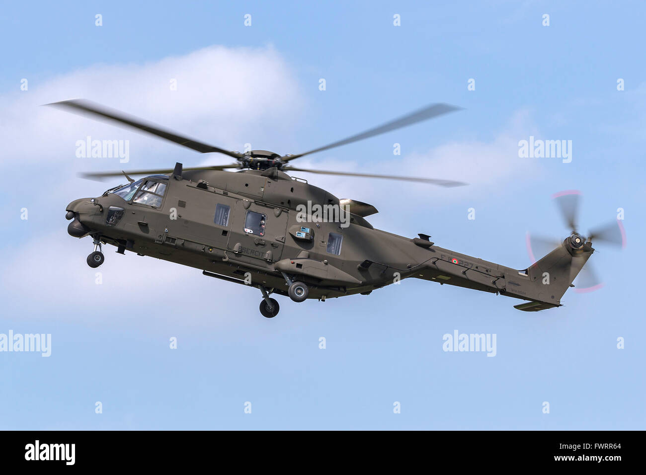 Italian Army (Esercito Italiano) NHI (NH Industries) NH-90 Multirole military helicopter MM81544 - Stock Image