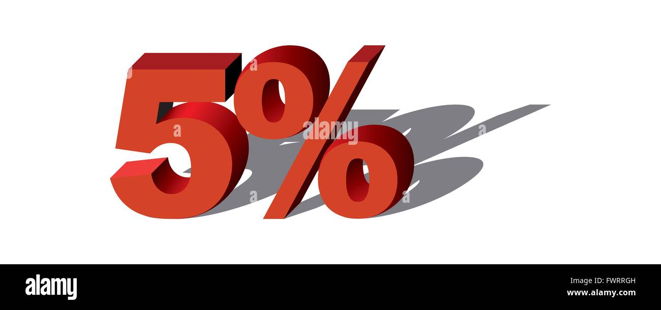 Illustration Vector Graphic Sale Percent 5 for the creative use in graphic design - Stock Image