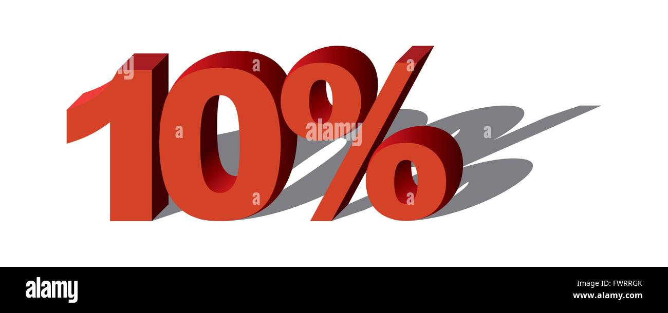 Illustration Vector Graphic Sale Percent 10 for the creative use in graphic design - Stock Image