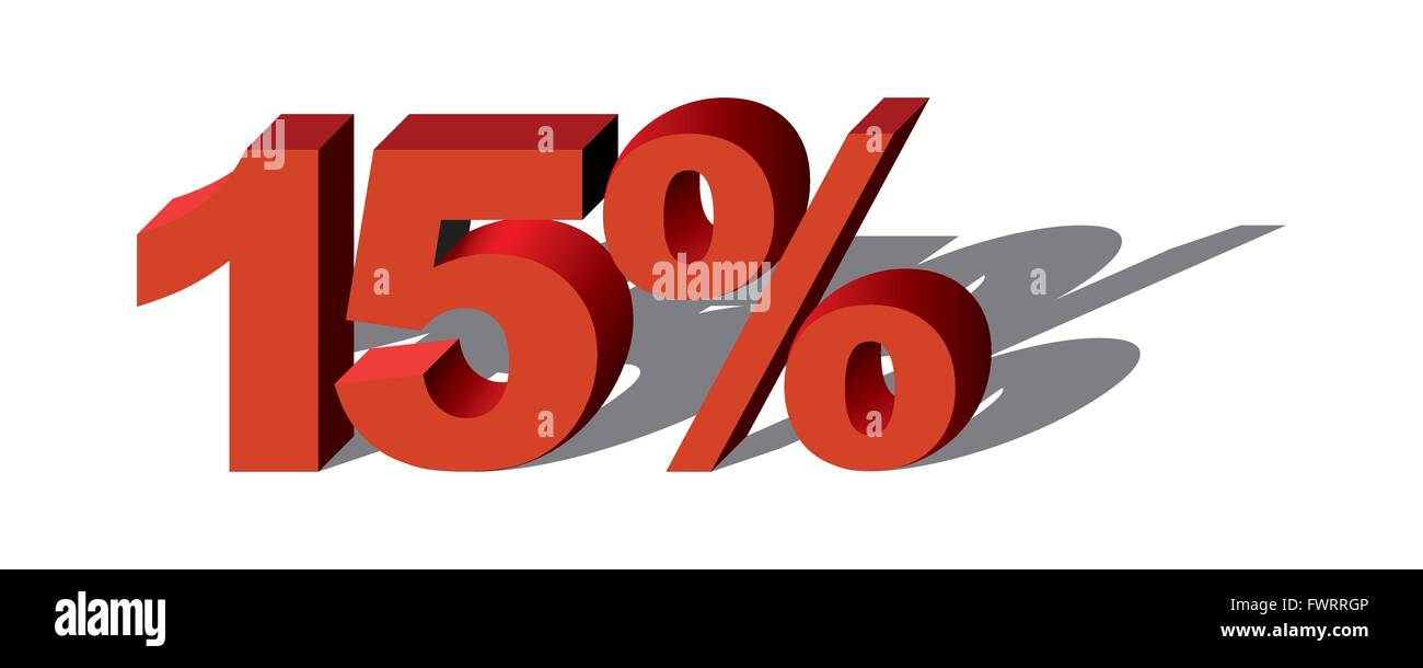 Illustration Vector Graphic Sale Percent 15 for the creative use in graphic design - Stock Image