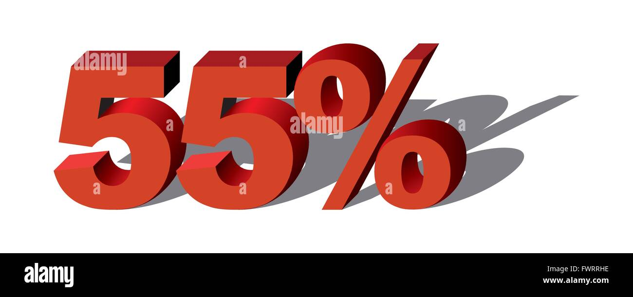 Illustration Vector Graphic Sale Percent 55 for the creative use in graphic design - Stock Image
