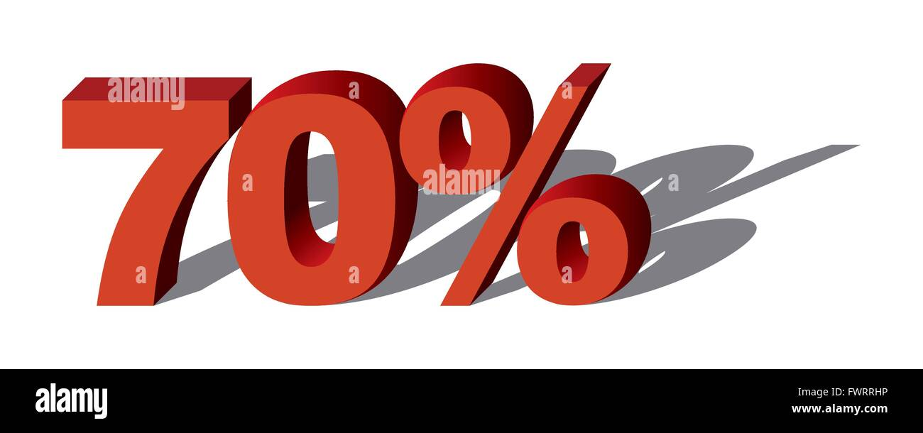 Illustration Vector Graphic Sale Percent 70 for the creative use in graphic design - Stock Image