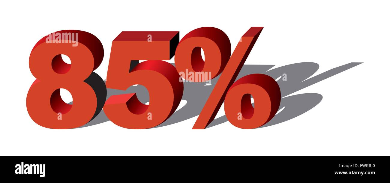 Illustration Vector Graphic Sale Percent 85 for the creative use in graphic design - Stock Image