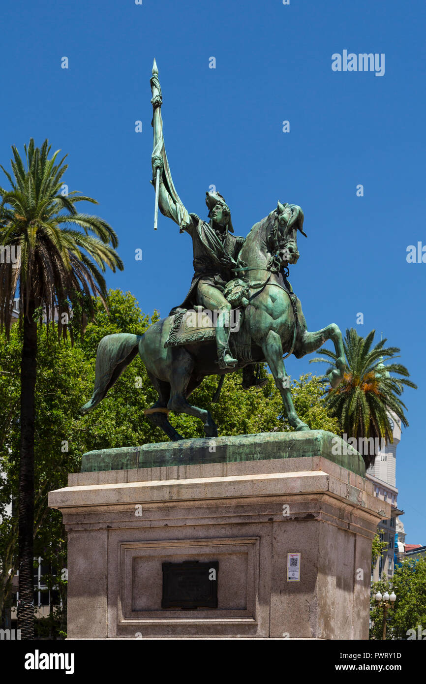Monument of General Manuel Belgrano in Plaza de Mayo, Buenos Aires, Argentina, South America. - Stock Image