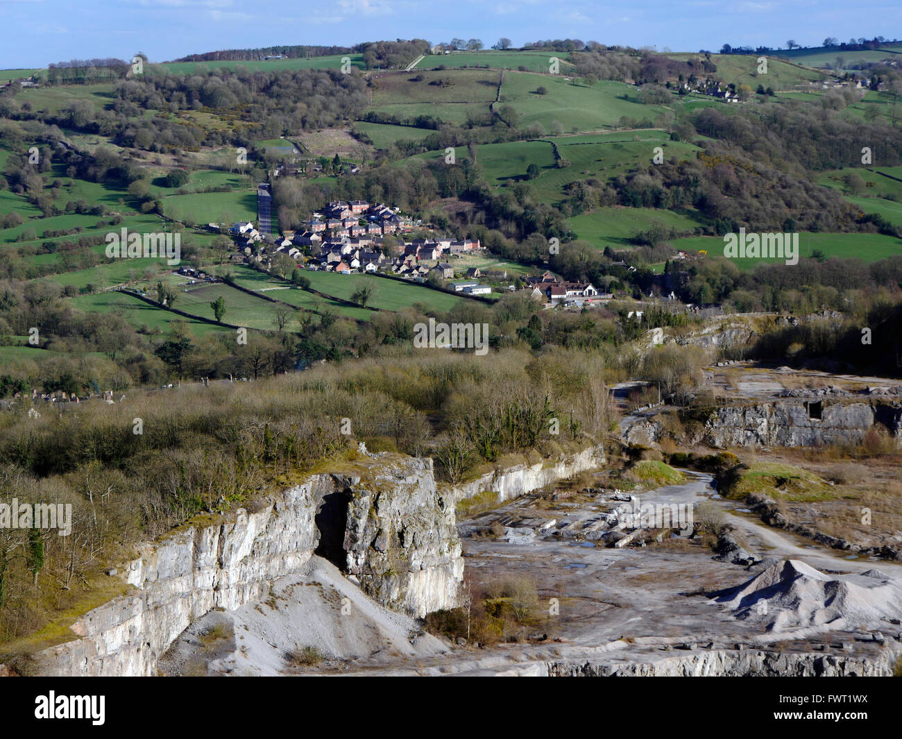limestone quarry at Wirksworth Cromford village town Peak District – Peak Park Planning