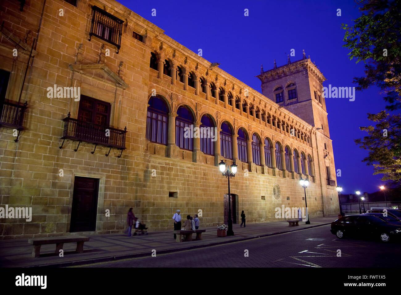 Condes de Gomara palace. Soria, Castile-Leon. Soria. Spain - Stock Image