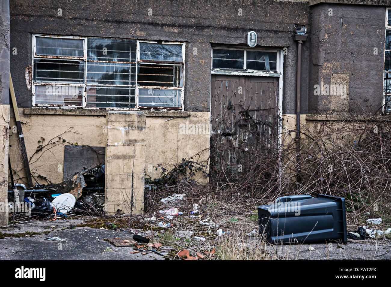 An abandoned building on an industrial park in Norwich - Stock Image