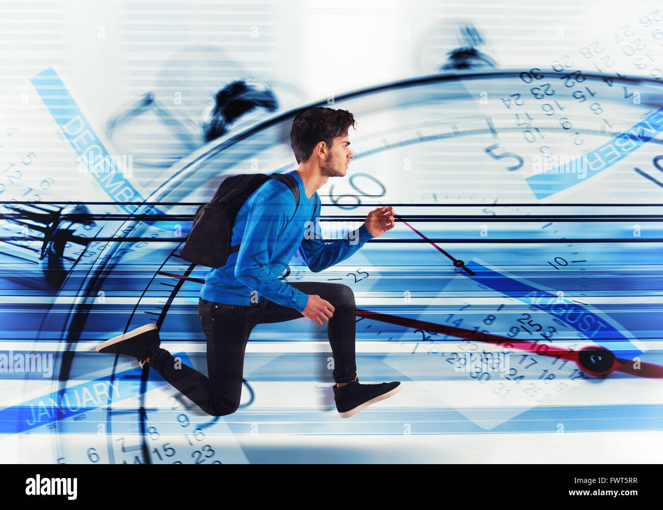 Run for the delay - Stock Image