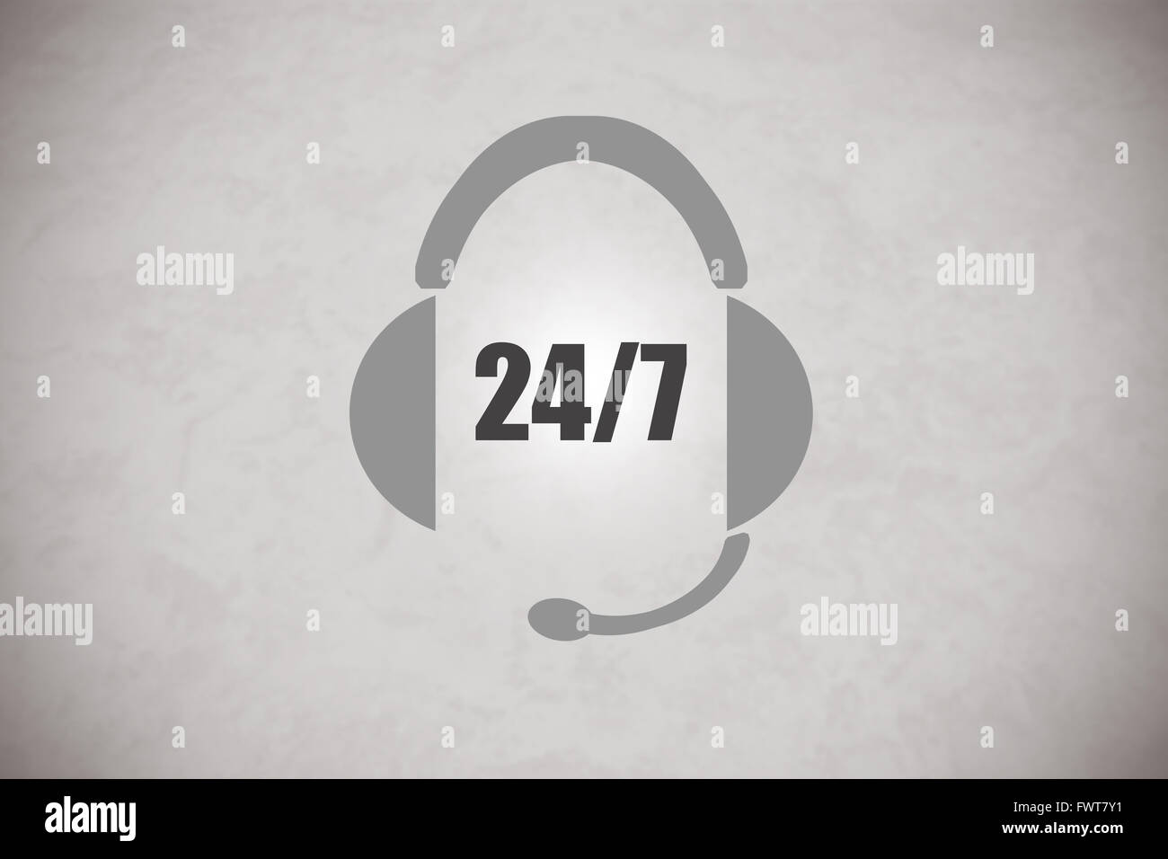 Image of an headset representing 24/7 support - Stock Image