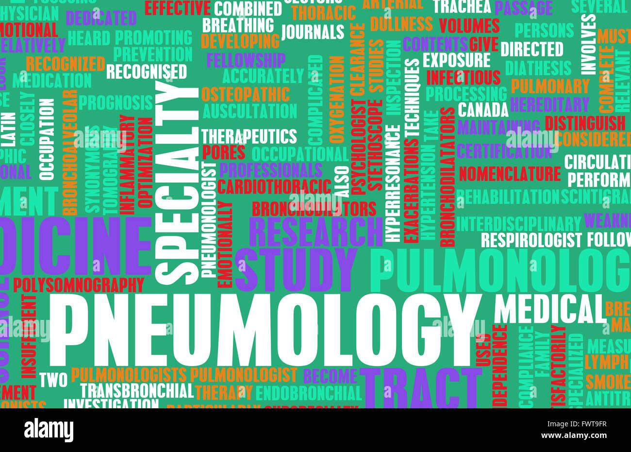 Pneumology or Pneumologist Medical Field Specialty As Art - Stock Image