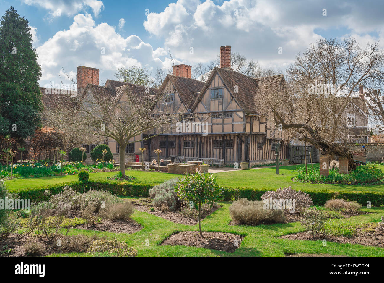 The rear of Hall's Croft, the substantial Jacobean home of Shakespeare's daughter Susanna and her husband - Stock Image
