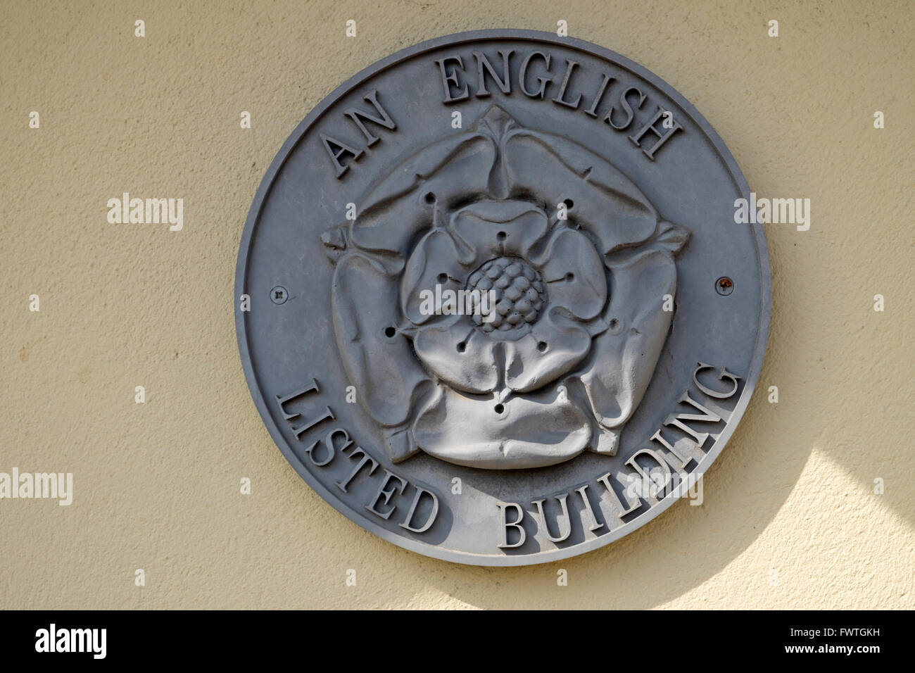 An English Listed Building badge - Stock Image