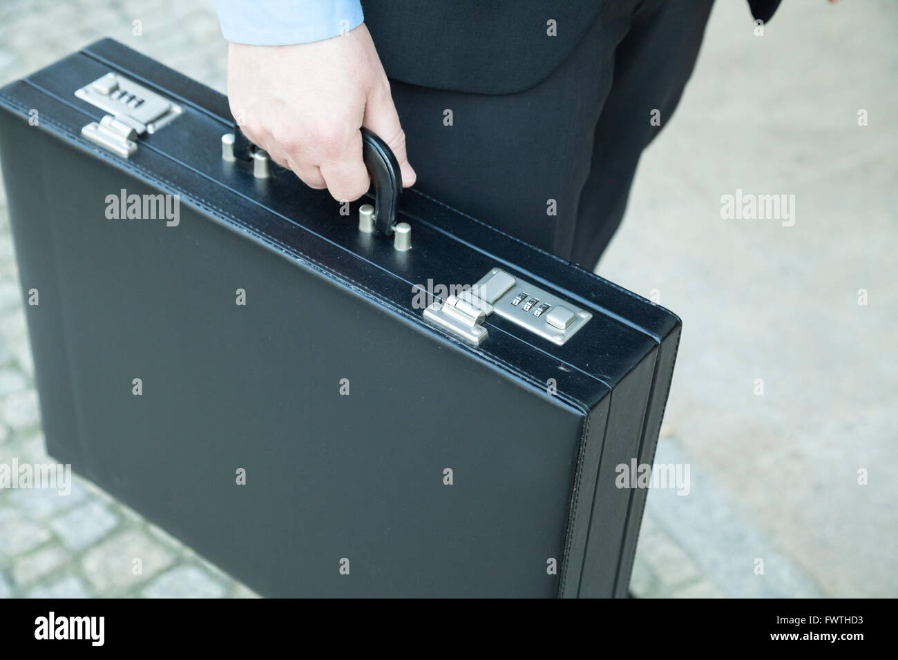 Briefcase of a businessman - Stock Image
