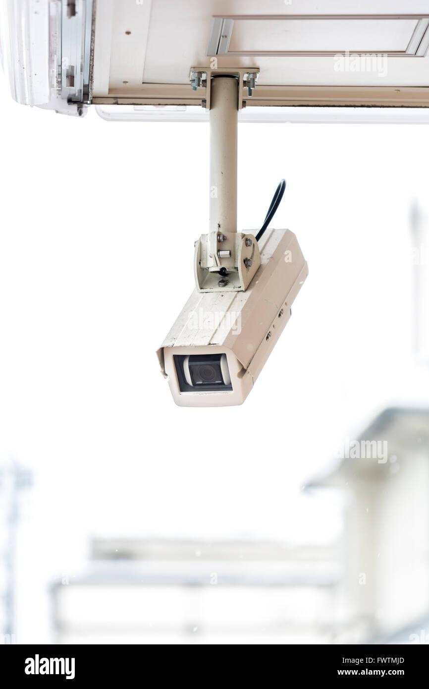 security camera CCTV of retail shop - Stock Image