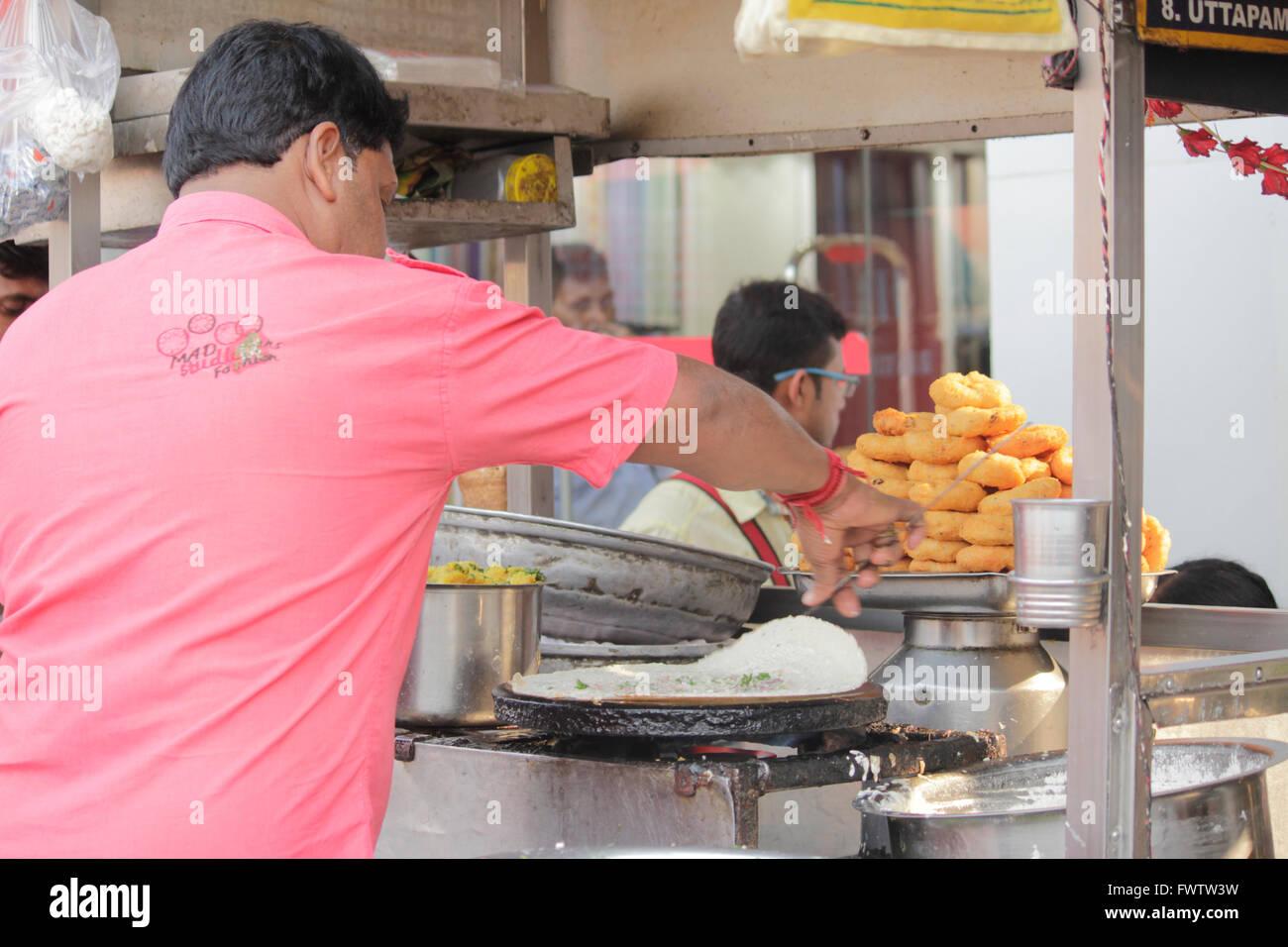 Street food, Kolkata, India - Stock Image