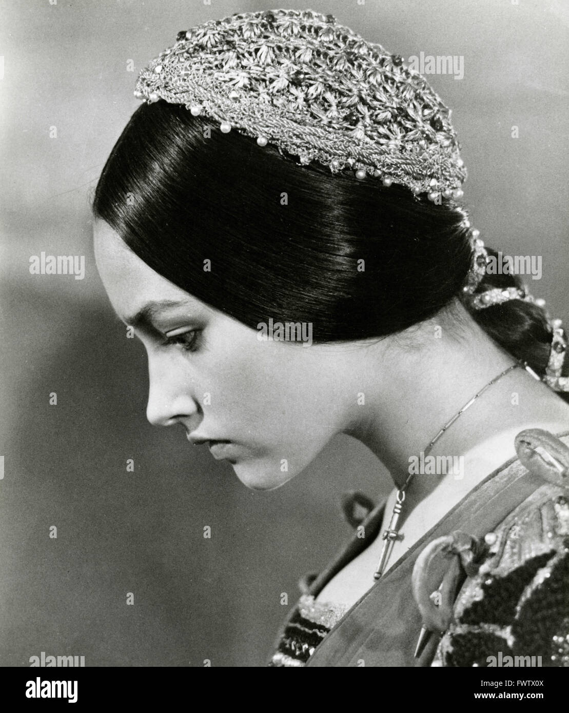 Olivia Hussley in the film Romeo and Juliet, Italy 1968 - Stock Image