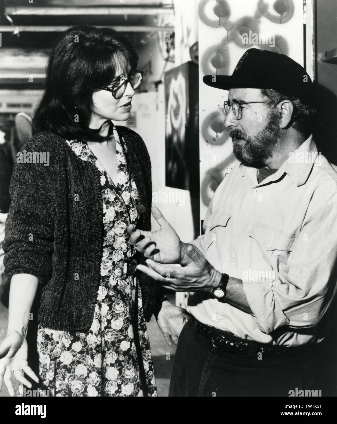 Michael Tucker And Carole Galloway In The Film A Town Torn Apart, USA 1992