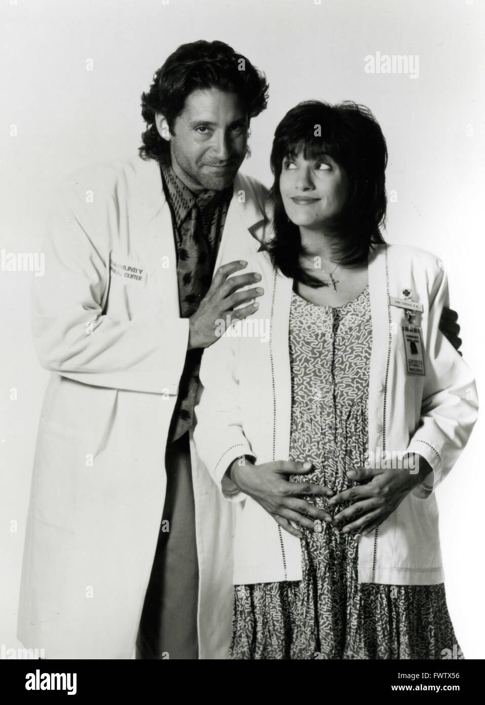 Kip Gilman and Ada Maris in the TV series Nurses, USA 1993 - Stock Image