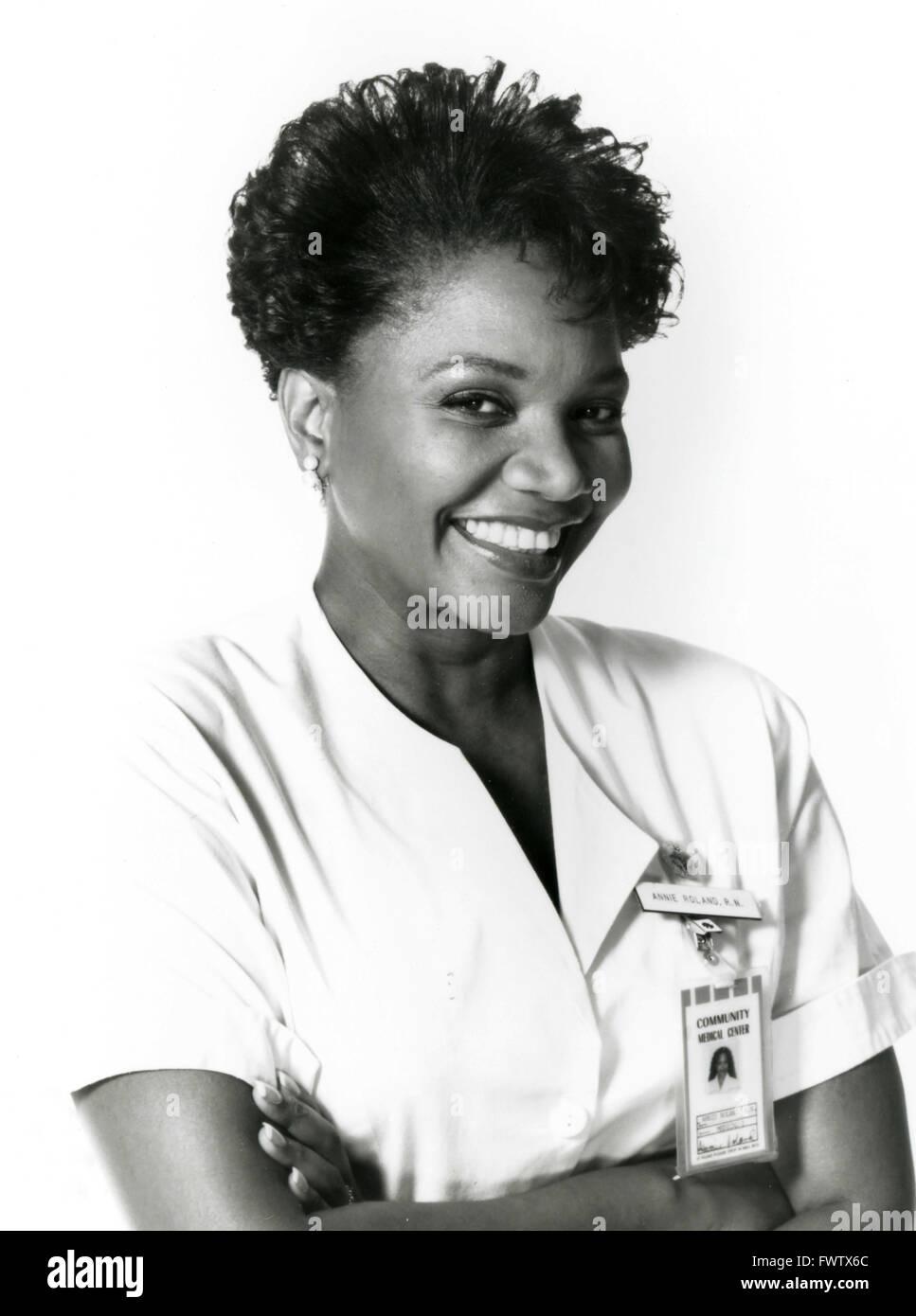 Arnetia as Annie Walker Roland Nurses in the TV series, USA 1993 - Stock Image