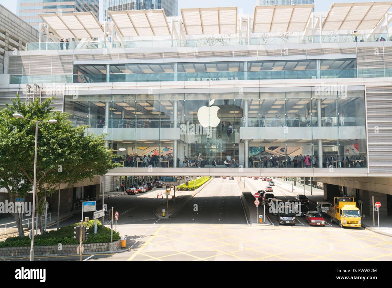The Apple Store in the central of Hongkong Stock Photo