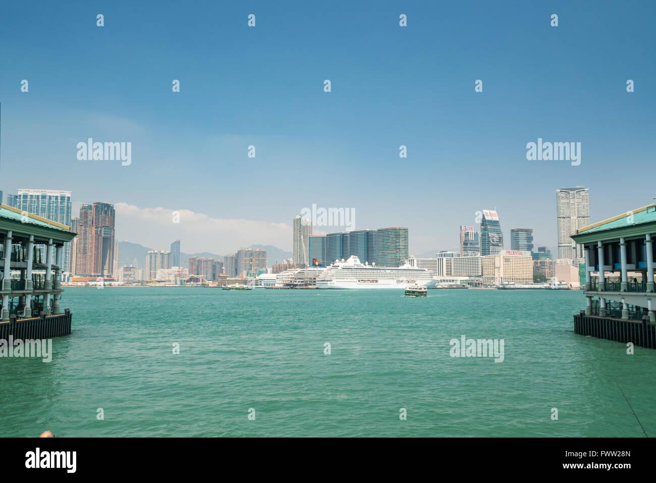 hongkong skyline - Stock Image