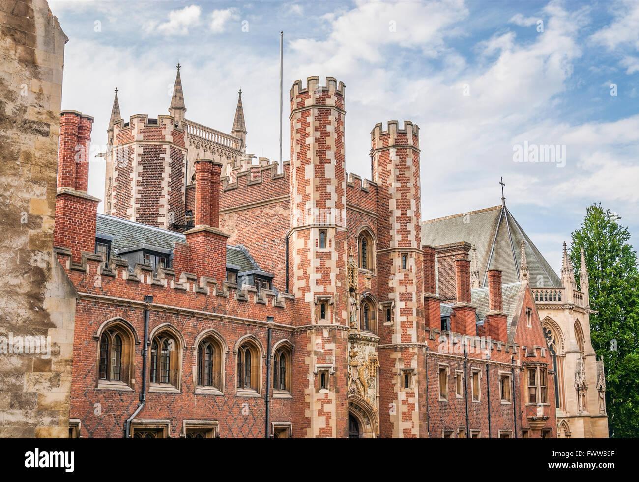 St.Johns College at the University City Cambridge, England. | St.Johns College in der Universitätsstadt Cambridge, Stock Photo
