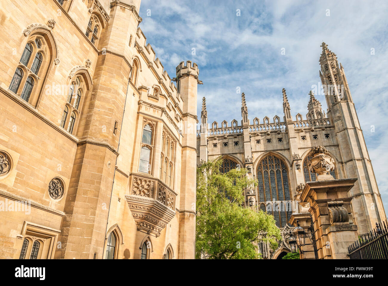 King's College Chapel at University City Cambridge, England. | King's College Chapel in der Universitätsstadt - Stock Image