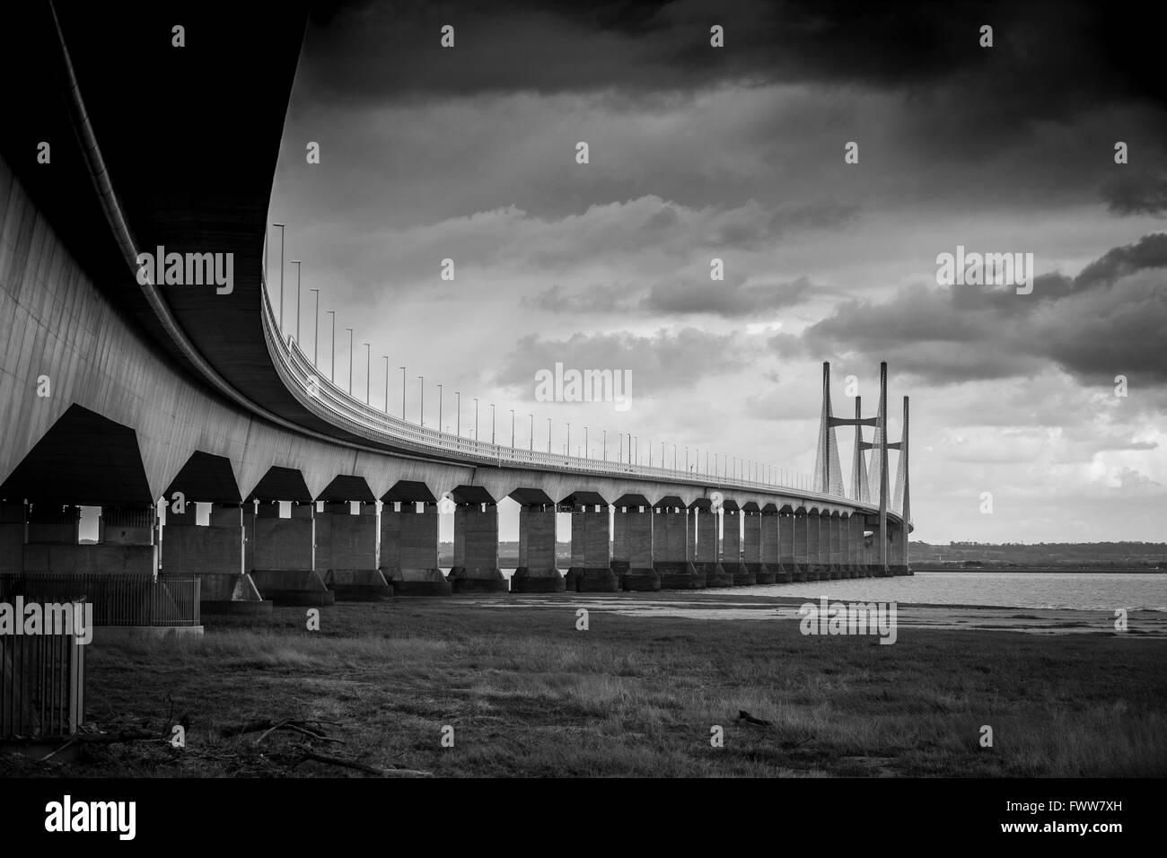 Severn Bridge crossing - Stock Image