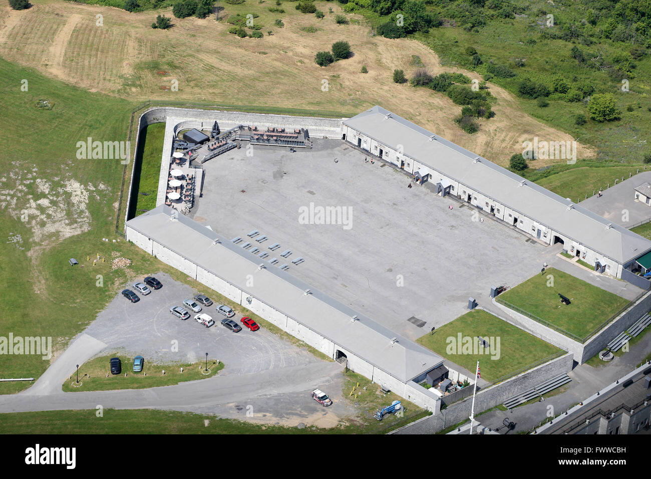 Aerial view of Fort Henry in Kingston, Ont., on June 28, 2014. - Stock Image