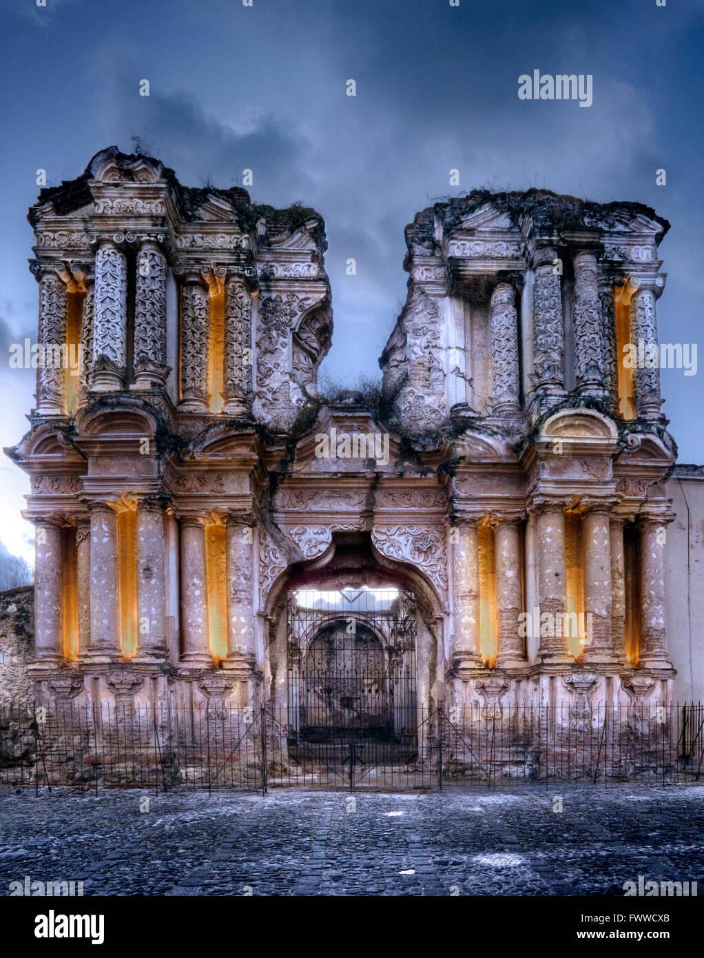 Iglesia El Carmen, Carmen Church, Antigua, Guatemala, UNESCO World Heritage Site - Stock Image