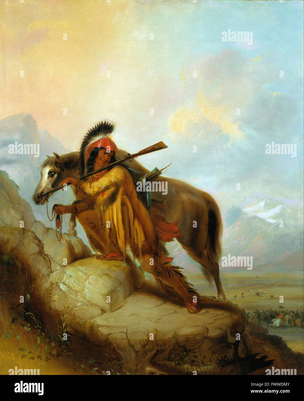 Alfred Jacob Miller - The Scalplock - Denver Art Museum - Stock Image