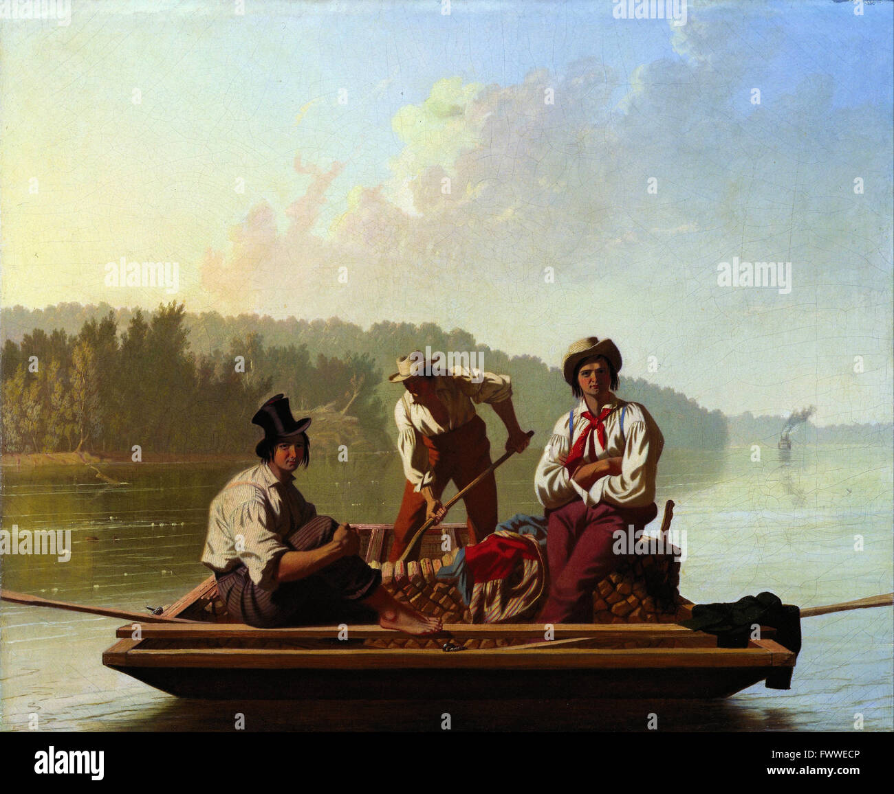 George Caleb Bingham - Boatmen on the Missouri - de Young Museum - Stock Image